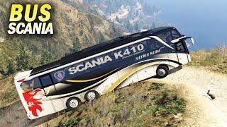 Yakin Semua Mobil Bisa Naik Gunung?? Coba Bus Tronton Scania K410 #Gta5
