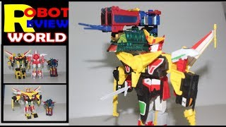 グレートマイトガイン・パーフェクトモード 勇者特急マイトガイン GREAT MIGHT GAINE review by Robot Review World Great Might Gaine - Might Gaine Candy toy ...