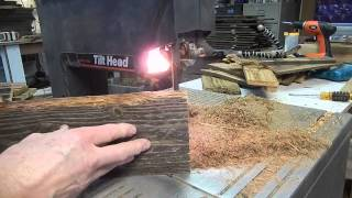 How To Resaw Fencing For Rustic Birdhouses With A Bandsaw Woodworking #3