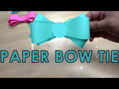[Tutorial + Template] *Free* How To Make Simple Paper Bow Tie Easy Template