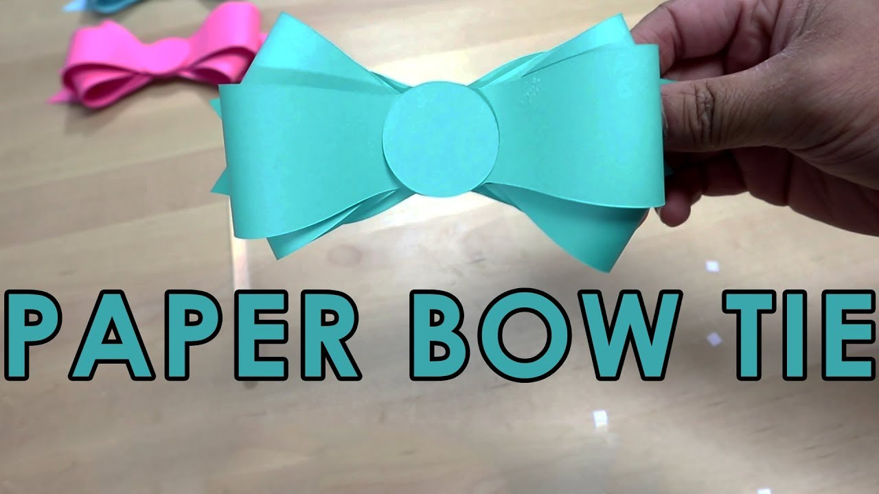Tutorial Template Free How To Make Simple Paper Bow Tie Easy Template