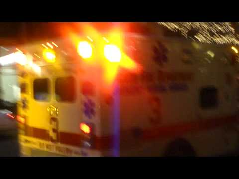 Chicago Fire Department Engine with a CFD Ambulance