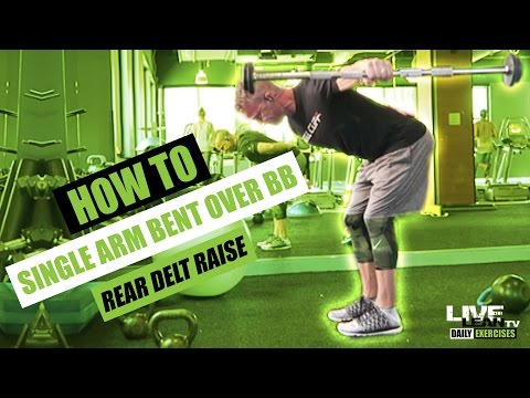 How To Do A SINGLE ARM BENT OVER BARBELL REAR DELT RAISE | Exercise Demonstration Video and Guide