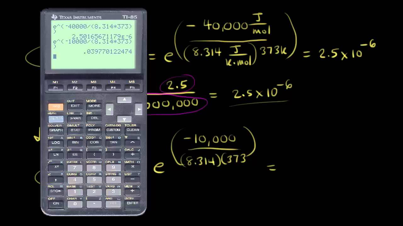 Arrhenius equation (video) | Kinetics | Khan Academy