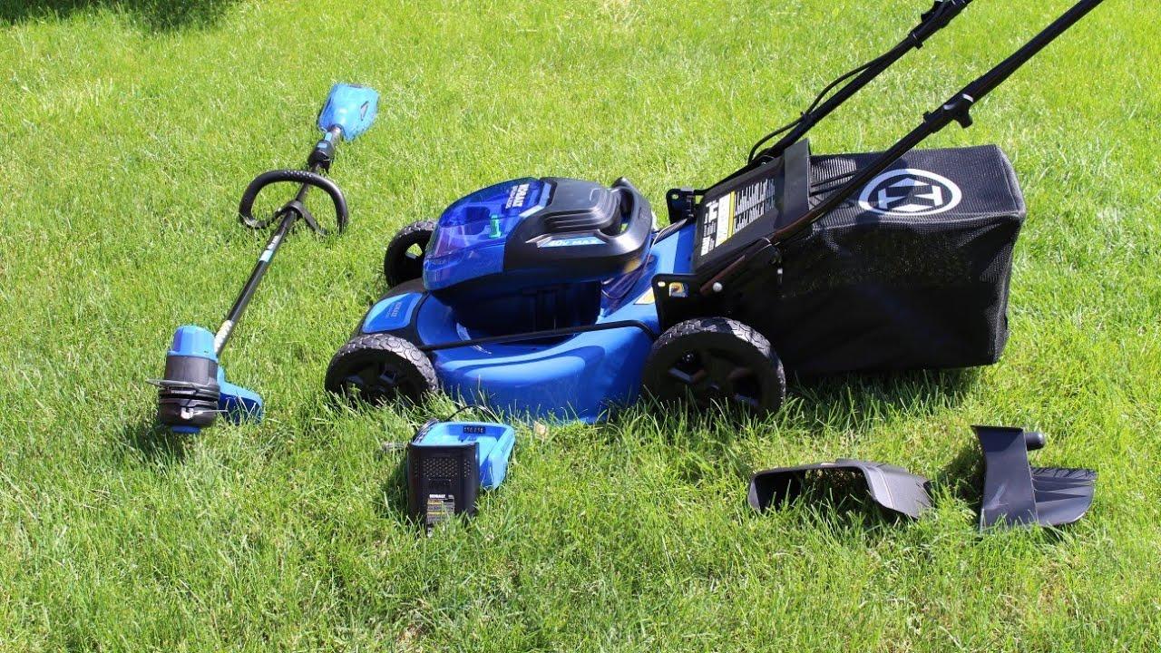 Kobalt 40 Volt Brushless Lawn Mower And Trimmer Youtube