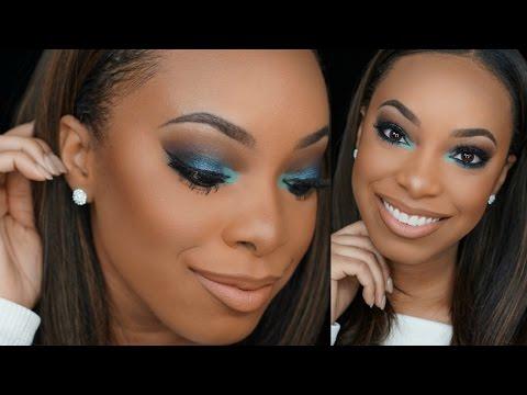 Blue & Teal Smokey Eye Makeup Tutorial | AlyraTV