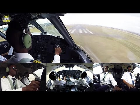 PETER'S PERFECT LANDING: Dash 8-100 truly using Nairobi Wilson's full runway length [AirClips]