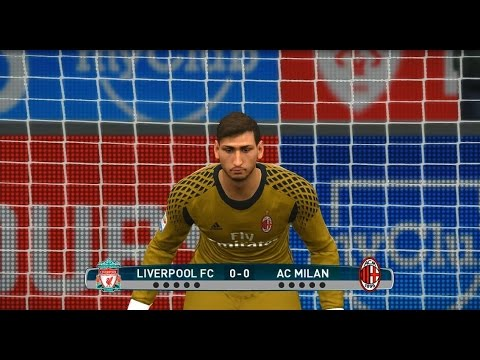 Liverpool vs Ac Milan Penalty Shoot Out - PES 2017 [HD]