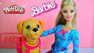 Lego for kids | Barbie Potty Training Taffy Barbie Doll and Pet Review Unboxing with Play-doh