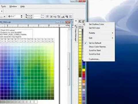 Using The Multirip Rgb Color Chart & Swatches - Coreldraw - Youtube
