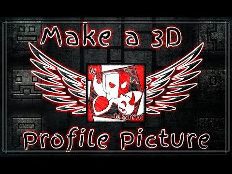 Geometry Dash - SpeedArt - Making 3D Profile Picture On Mobile 📲