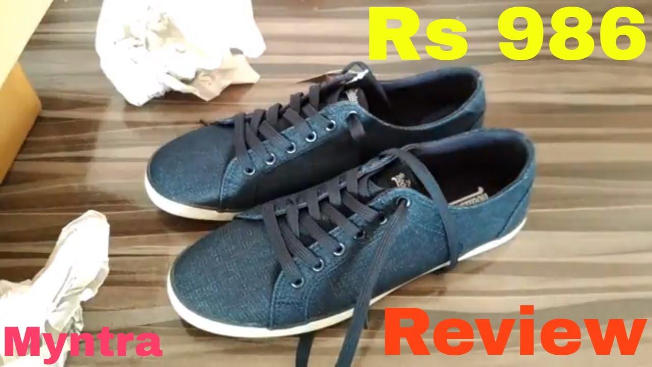Roadster Men Navy Blue Sneakers Review