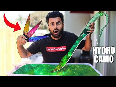HYDRO Dipping DANGEROUS WEAPONS 3!! *INSANE DIY CUSTOM CAMOS* thumbnail