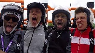 CRAZY SPEED! The Stig Drives ComedyShortsGamer, Caspar Lee, Bizzle & JMX | Top Gear