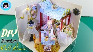 "DIY Miniature Wooden Dollhouse with Lights ""Sweet Dreams in Paris"" ミニチュアドールハウス 소형 인형의 집 ♥"