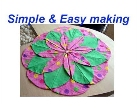 Diy Handmade Table Mat Placemat Floor Door Carpet Area Rug Best Craft Idea