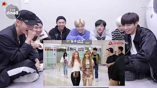 BTS Reaction to BLACKPINK Beautiful-Fashion stage and airport fashion
