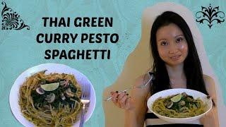 Thai Green Curry Pesto Spaghetti Recipe - Vegan & Gluten Free