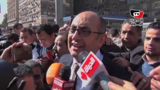 خالد علي يهتف أمام الأمن: «تيران وصنافير مصرية بحكم الدم»
