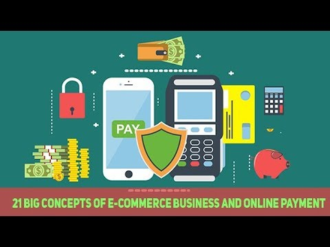 21 Big Concepts of E-Commerce Business and Online Payment- After Effects