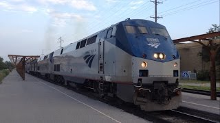 Amtrak California Zephyr Departing Ottumwa, Ia 7/31/14
