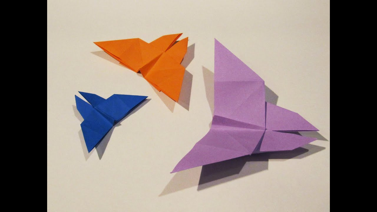 Origami Easy Butterfly - Tutorial - How to make an easy ... - photo#19
