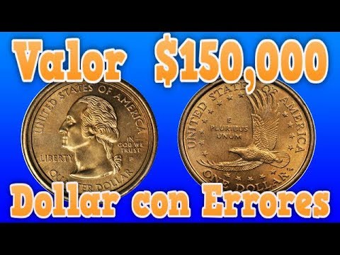 Valor $150,000. Sacagawea/Quarter mule Small Dollar Errors  Buscalas