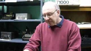 Bob Congleton Talks about the Sholes and Glidden Typewriter