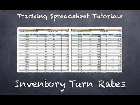 tracking spreadsheet 2 0 tutorial inventory turn rates youtube