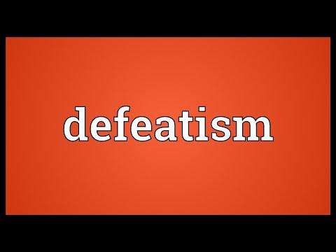Header of defeatism