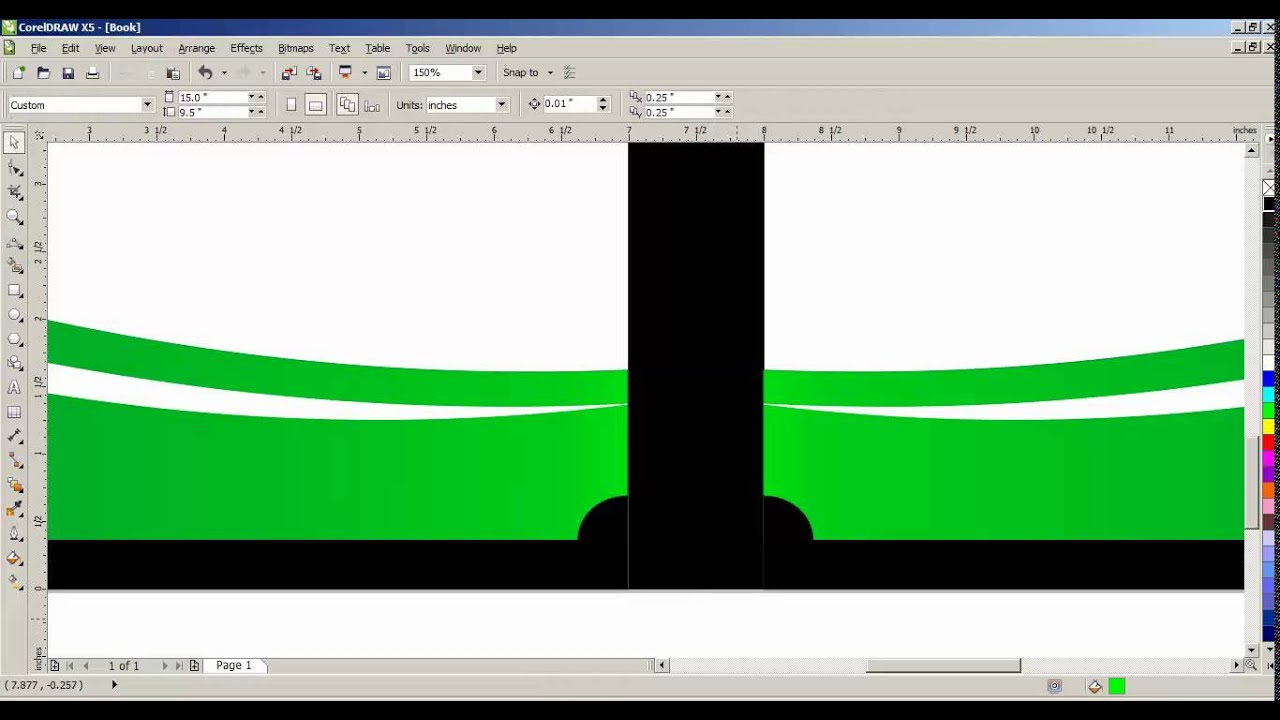 How To Make Book Cover Design In Coreldraw : How to create book cover page in coreldraw tamil part