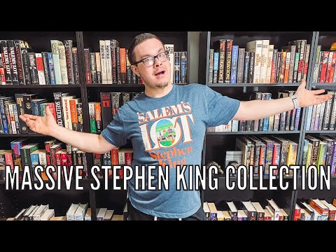 BIGGEST STEPHEN KING COLLECTION EVER? || over 400 books, bookshelf tour 2021