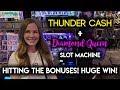 HUGE WIN! Diamond Queen! Slot Machine! BONUSES!!