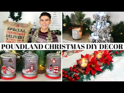 POUNDLAND DIY CHRISTMAS DECOR 2018 | BUDGET CHRISTMAS DIY HACKS with HERMIONE CHANTAL
