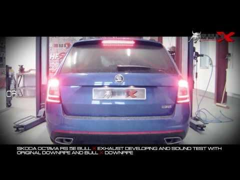 Skoda Octavia 5E RS Exhaust Sound file Bull-X Auspuffsound Downpipe