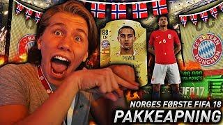 NORGES FØRSTE FIFA 18 PAKKEÅPNING!! 💥 100 000 FIFA POINTS & MASSE WALKOUTS!!