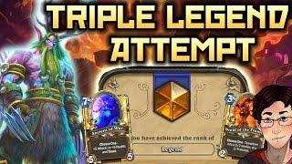 Hearthstone Triple Legend Attempt - Wall of Druid!