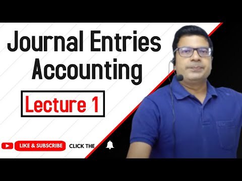 journal entries Accounting      lecture 1 by Santosh kumar (CA/CMA)