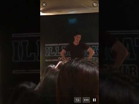 Shawn Mendes Q&A Singapore