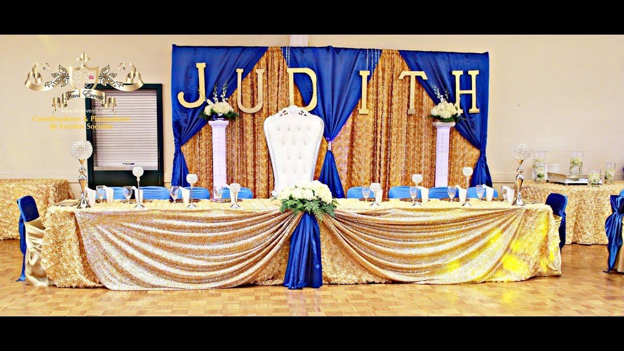 Faos events decoracion decoracion color azul royal y for Decoracion petrole azul