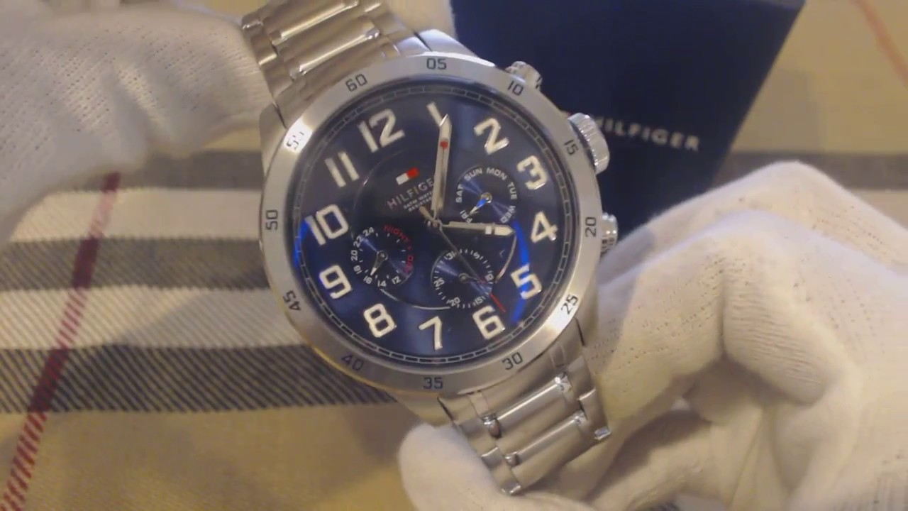 a6d9a38e Men's Tommy Hilfiger Multi Function Stainless Steel Watch 1791053 - YouTube