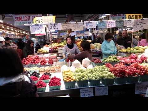 Granville Island  Public Market - Vancouver - Colombie - Britannique  - Canada