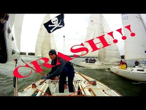 Sailboat Racing, Sailing Crashes - J22 Regatta