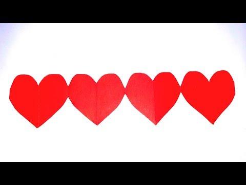 DIY Tutorial - Paper Cutting Art / Kirigami : Desain Hati Untuk Dekorasi Hari Valentine
