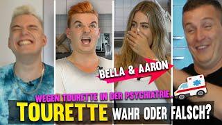 Wegen Tourette in der GESCHLOSSENEN Psychiatrie! Wir erzählen EUCH die WAHRHEIT mit Bella und Aaron!