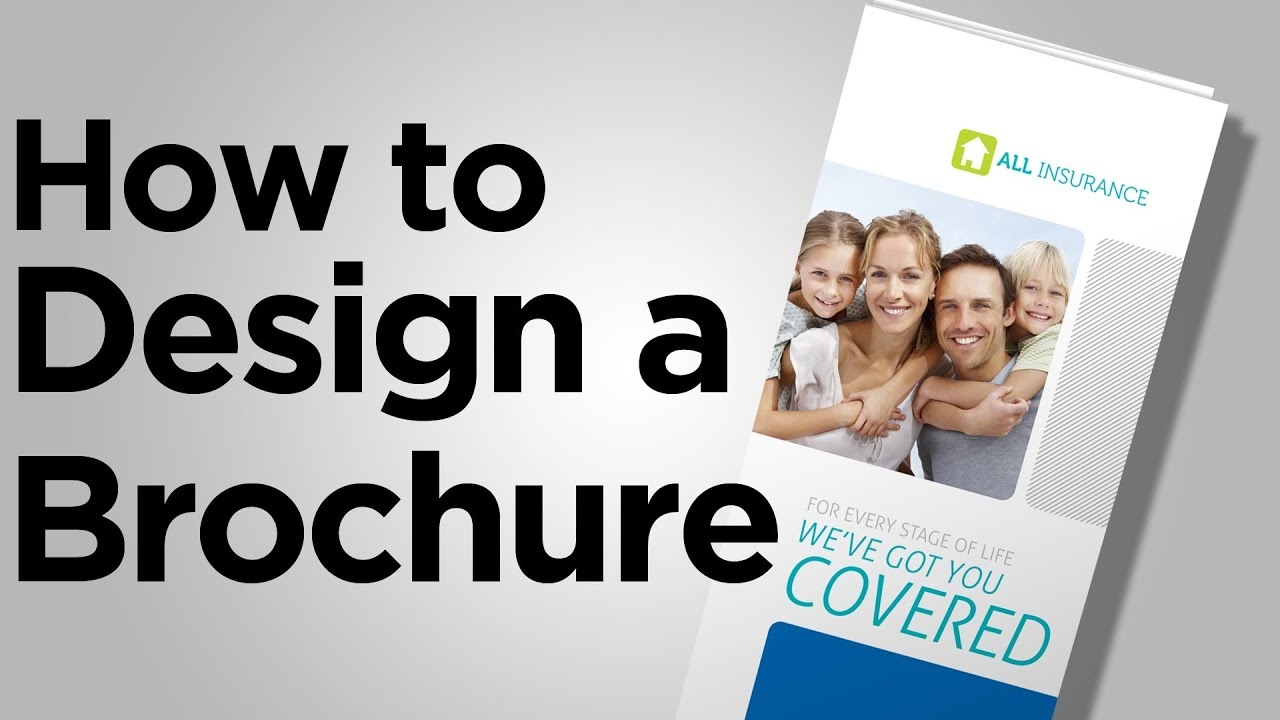 how to design a brochure - how to design a brochure tips from youtube