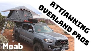 Overland Pros Roof Top Tent and Awning Stacked on my SnugTop Shell / 3rd Gen Tacoma