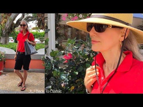 Vlog--3rd St Farmer's Market, Lunch Jane's Cafe, Naples, FL, OOTD / Classic Style Over 40, 50