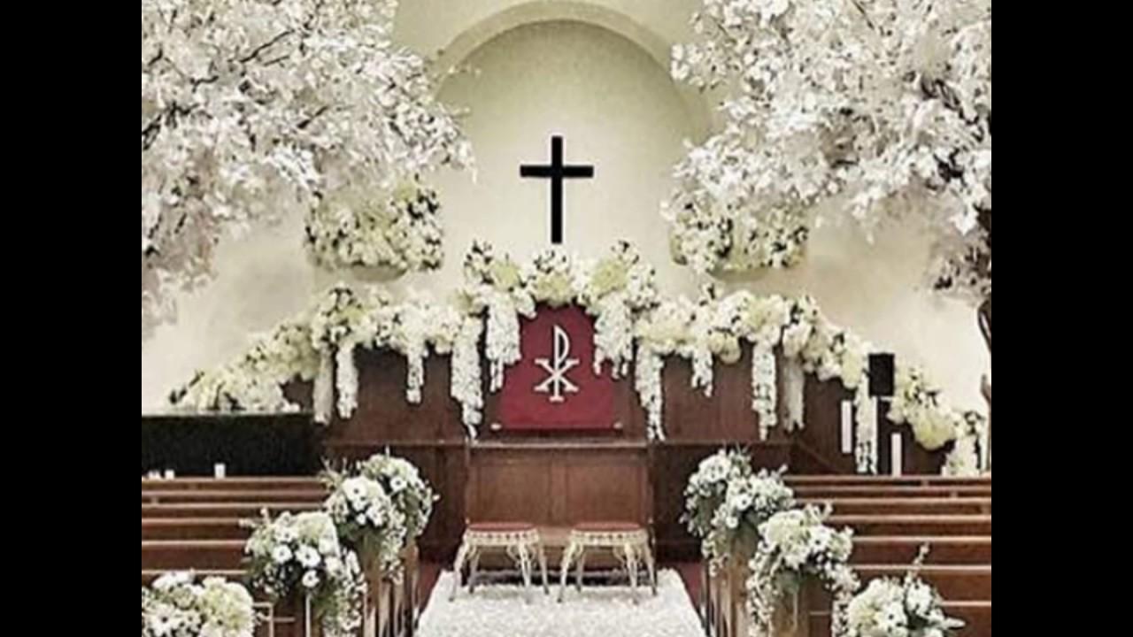 Dekorasi Pernikahan Di Gereja Hub 0857 3328 0001 By Bunga