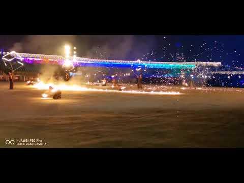 2020年南投燈會即將成真火舞團